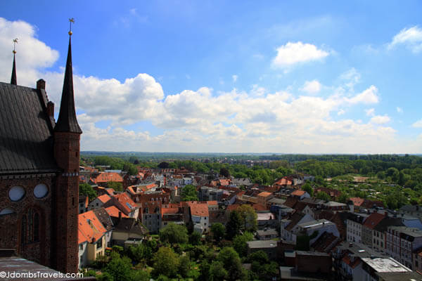 View from St. Nikolai in Wismar