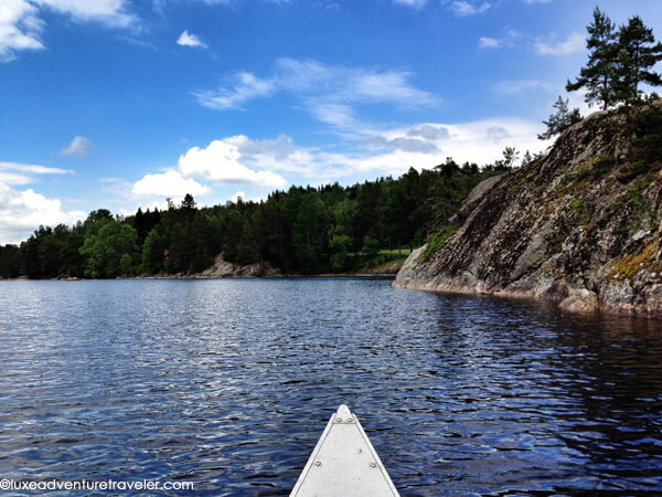 Canoeing in Dalsland, Sweden