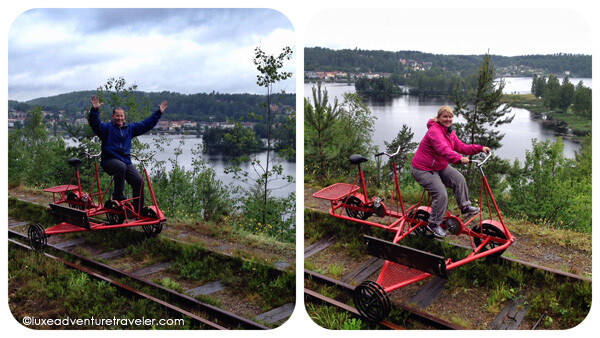 Railbiking in Dalsland, Sweden