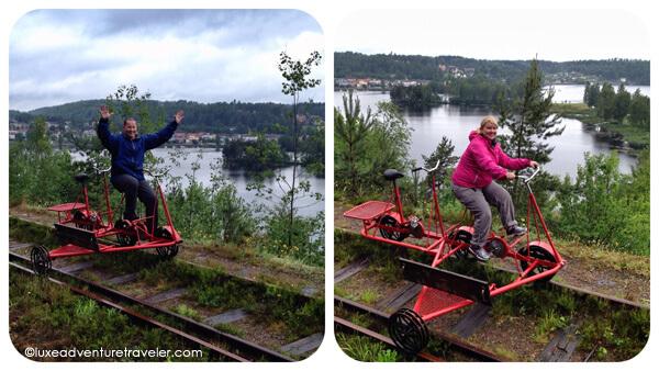 Railbiking in Dalsland, Sweden