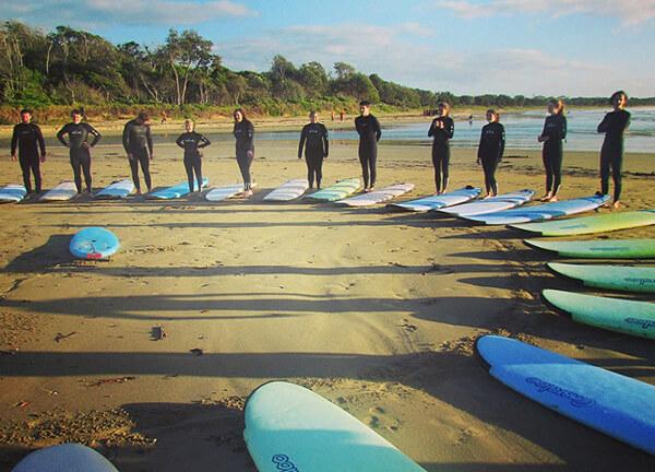 Surf lessons in Australia