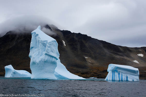 Icebergs in Kulusuk, East Greenland