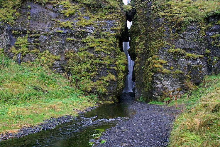 Gljúfrabúi Waterfall, South Coast, Iceland