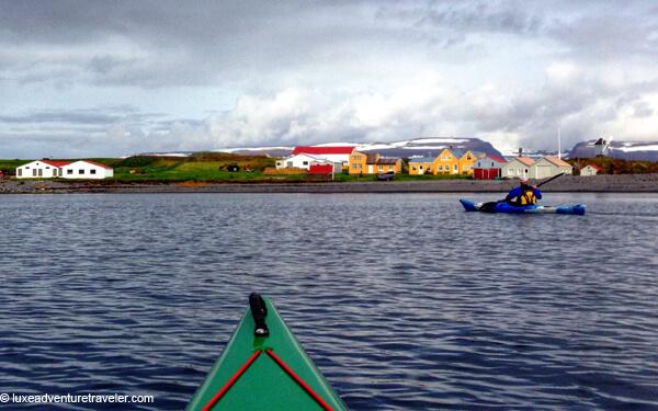 Kayaking to Vigur Island