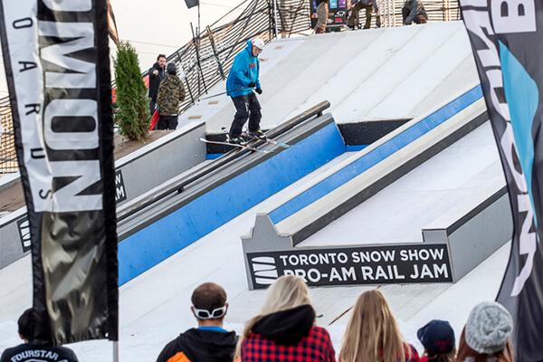 Rail Jam at Toronto Snow Show