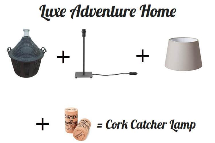 Luxe Adventure Home Diy Wine Cork Catcher Lamp Luxe Adventure Traveler