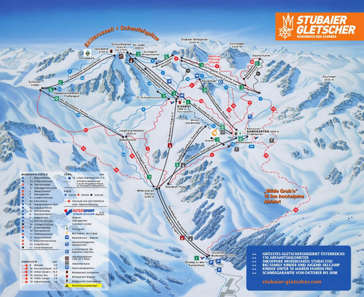 Stubai Piste Map