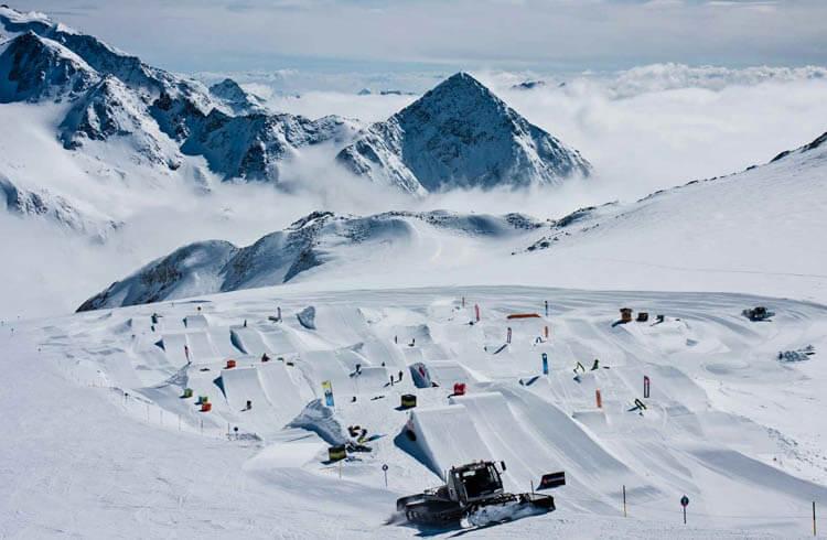 Snowpark on Stubai Glacier