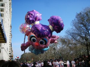Abby Cadabby giant balloon Macy's Thanksgiving Day Parade