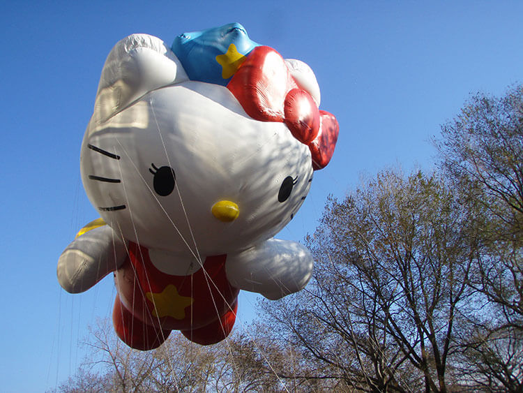 Hello Kitty giant balloon Macy's Thanksgiving Day Parade