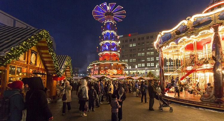 Alexanderplatz Christmas Market in Berlin, Germany