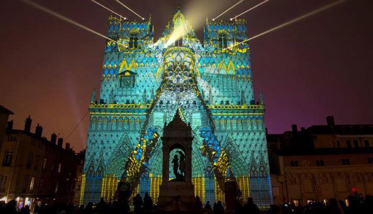 Lyon Fete des Lumieres projections