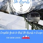 Best European Ski Resorts Pinterest Pin