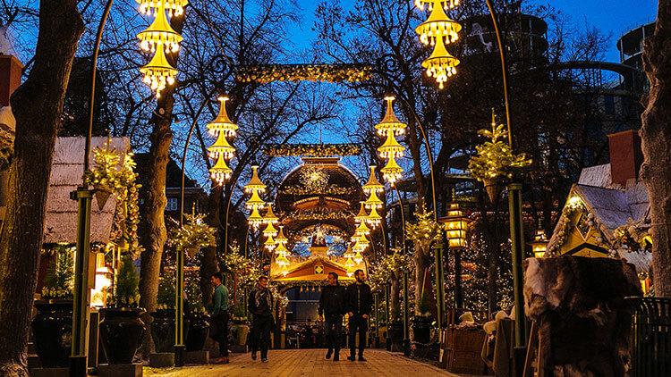 Tivoli Gardens Christmas Market in Copenhagen