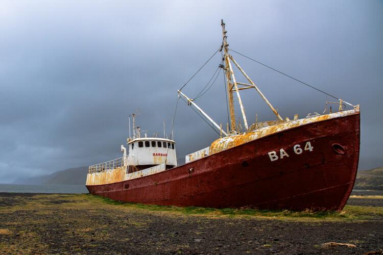 Gardar BA 64 Boat Westfjords Iceland