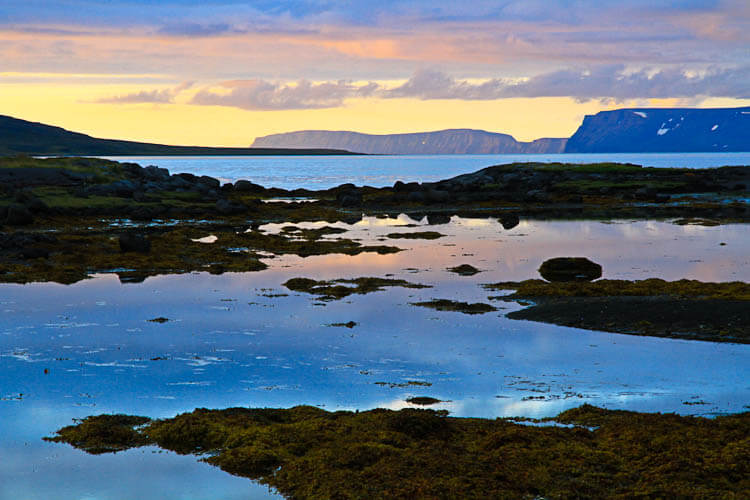 Iceland Beautiful Westfjords Sunset