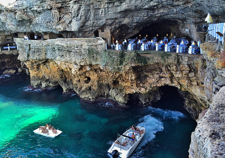 Image result for 6. The cave Polignano a Mare, Italy