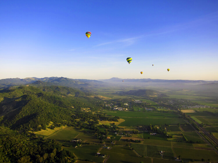 Ballooning Napa Valley