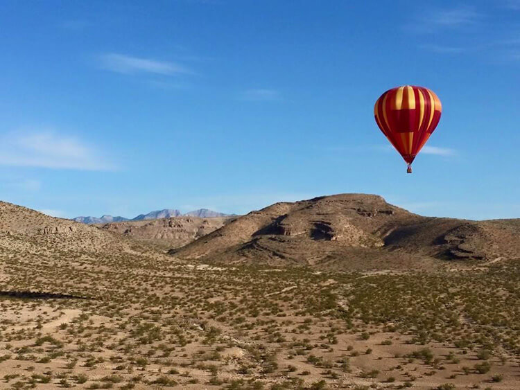 hot air ballooning Las Vegas