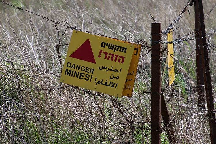 Landmines in the Golan Heights