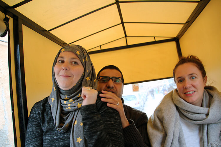 A tuk tuk on Marrakech Food Tours