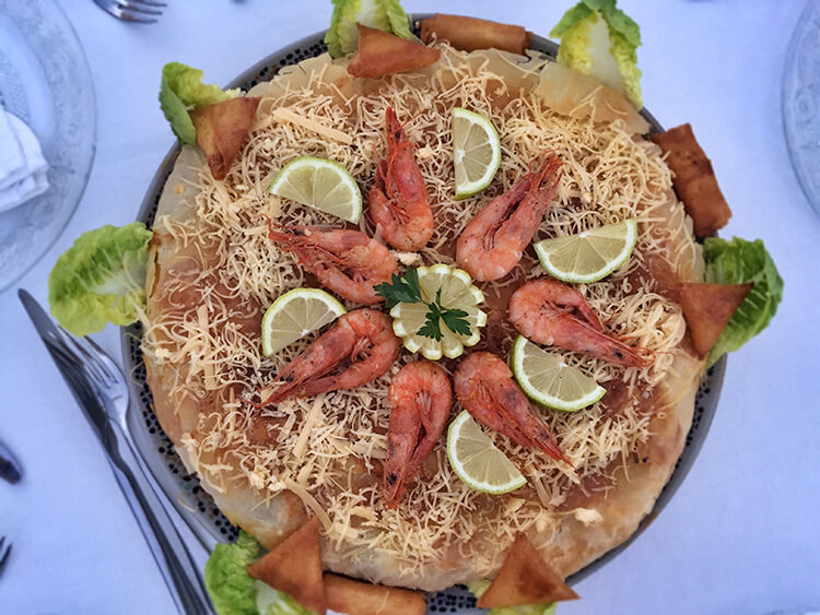 Seafood bastilla Marrakech Food Tours