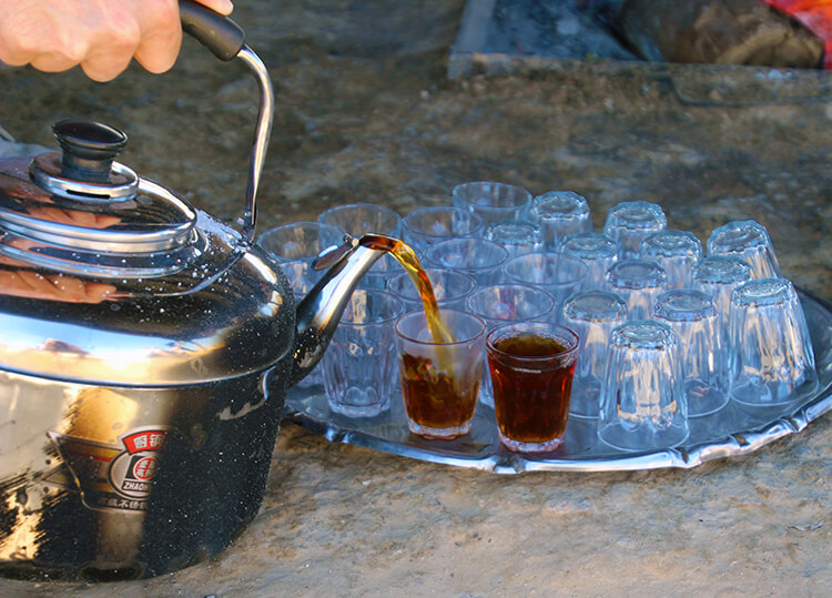 Bedouin tea in the Negev Desert