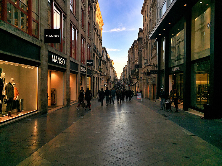 Rue Saint Catherine, Bordeaux, France