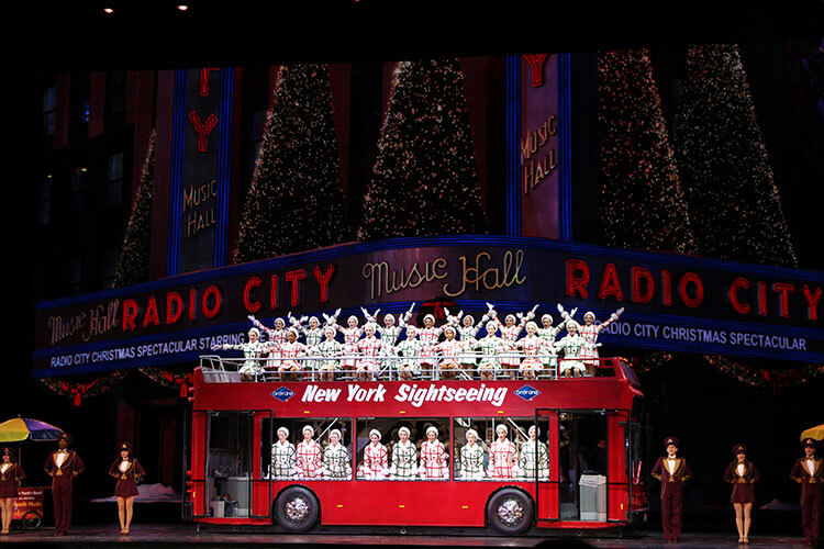 The Rockettes perform at the Radio City Christmas Spectacular