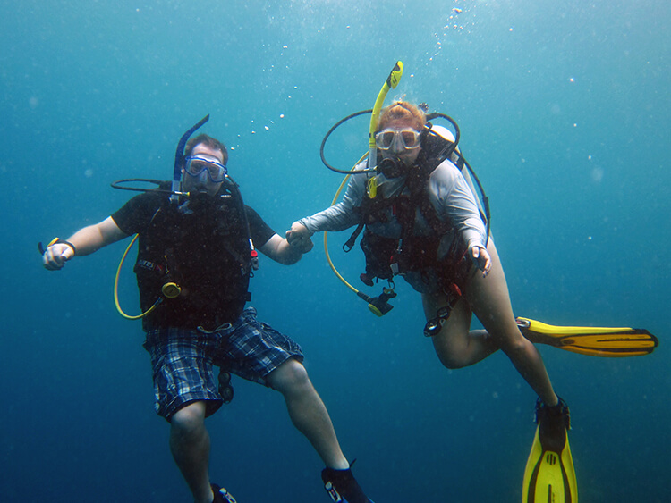 Scuba diving in Coron, Philippines