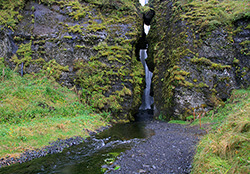 Gljúfrabúi Waterfall, South Coast, Iceland