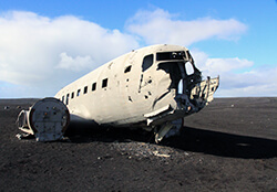 Abandoned DC3 Plane Crash, Iceland