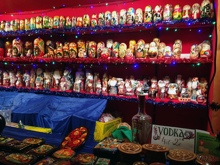 Nesting dolls for sale at the Ukraine stall at the Sister Cities Market