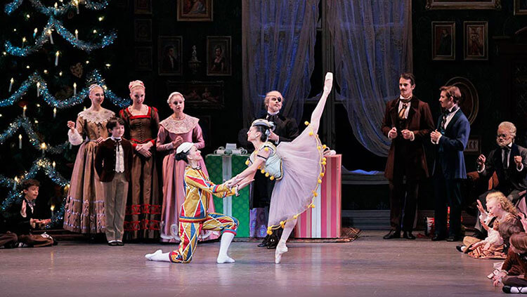 Ballerinas perform in George Balanchine's The Nutcracker