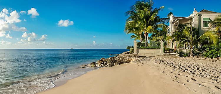 Barbados villas on the beach