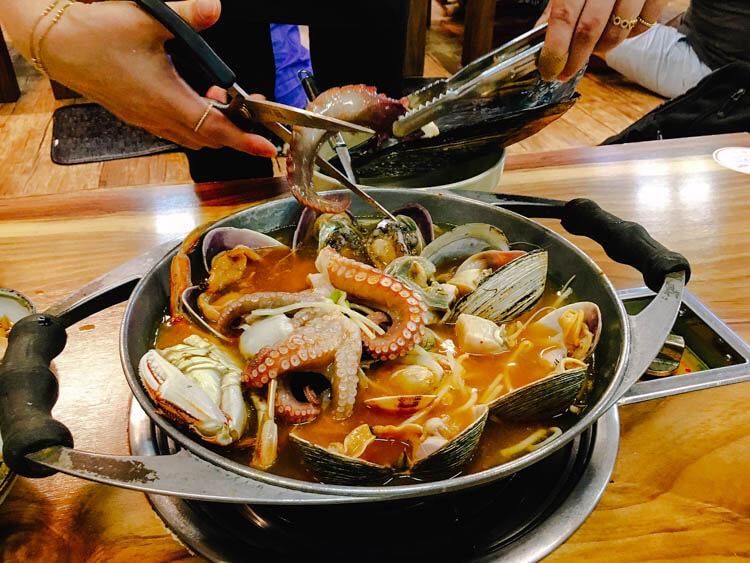 Haemultang (Spicy Seafood Stew)