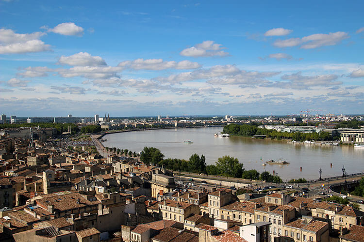 View from La Flèche Saint Michel, Bordeaux, France