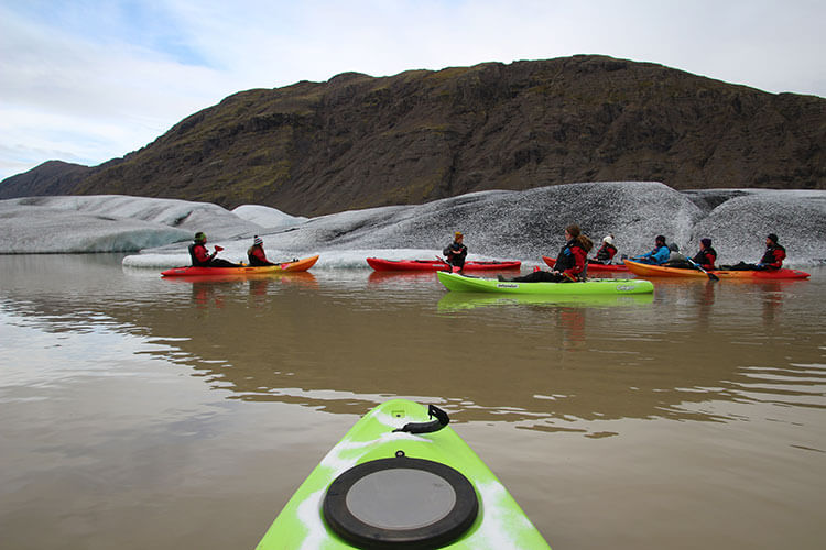 Kayaking the Glacier Lagoon Iceland