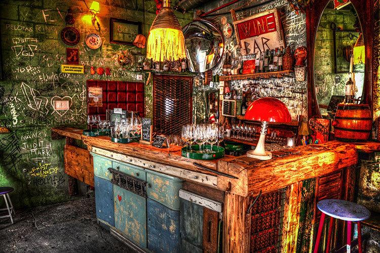 Al ecclecti ruin bar in Budapest