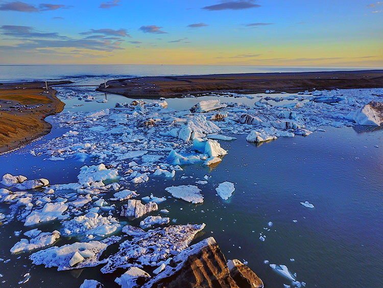 Jokulsarlon Glacier Lagoon, Icelande