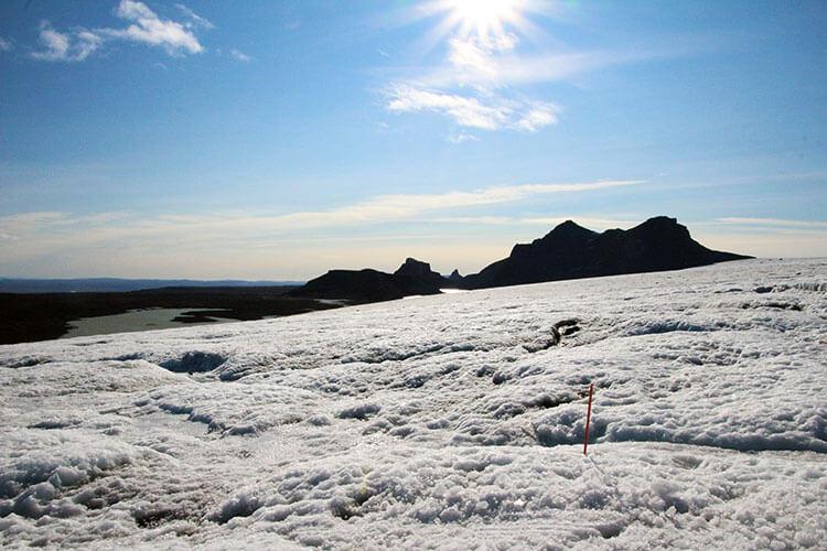 Langjokull glacier snowmobiling, Iceland