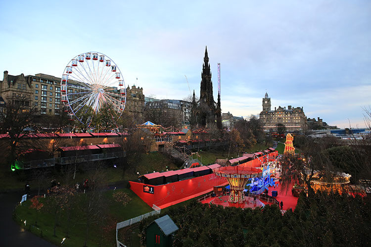 Edinburgh's Christmas East Princes Street Gardens Christmas Market