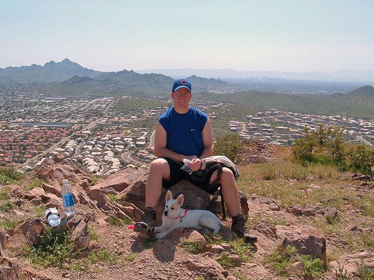 Emma hiking in Phoenix, Arizona