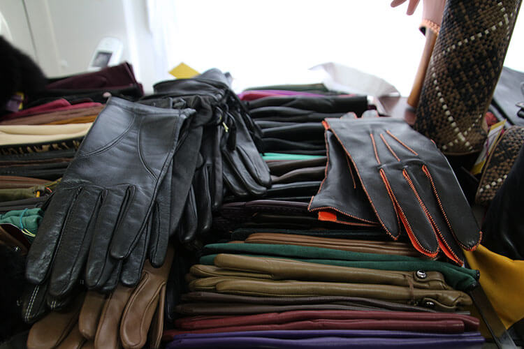 Agnelle brand gloves for sale at the factory shop