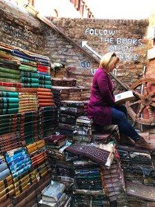 Acqua Alta Book Store, Venice, Italy