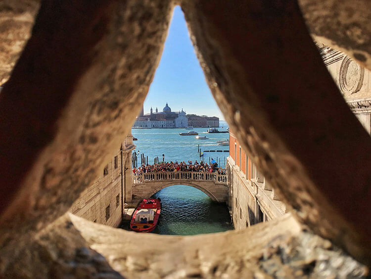 View from the Bridge of Sighs, Venice, Italy