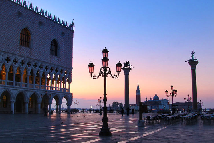 Sunrise at Piazza San Marco in Venice, Italy