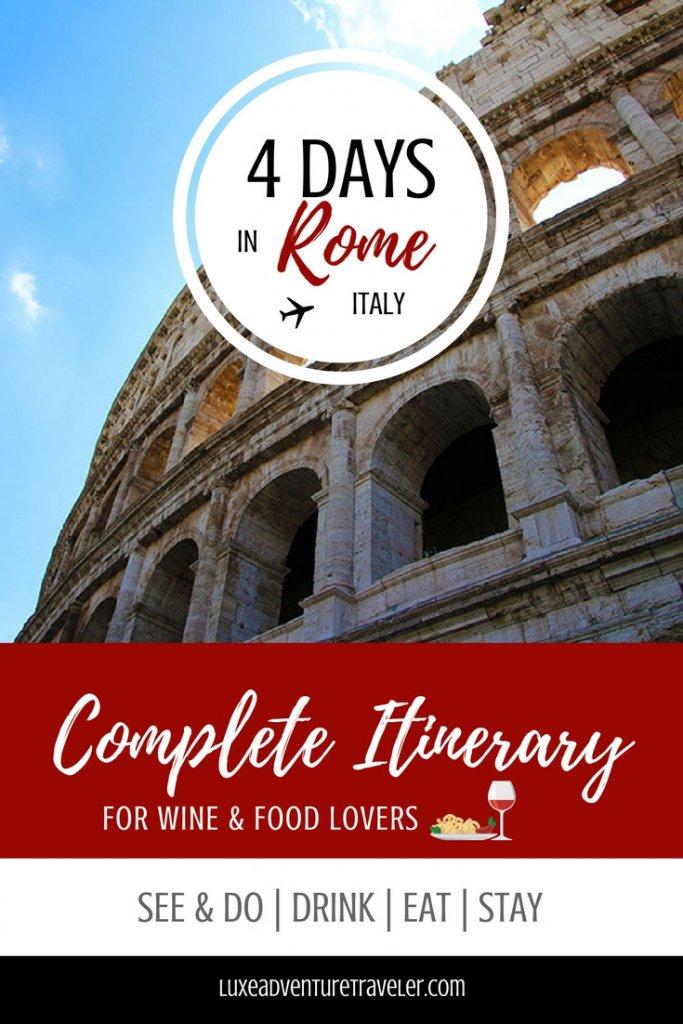 $ Day Rome Itinerary Pinterest pin