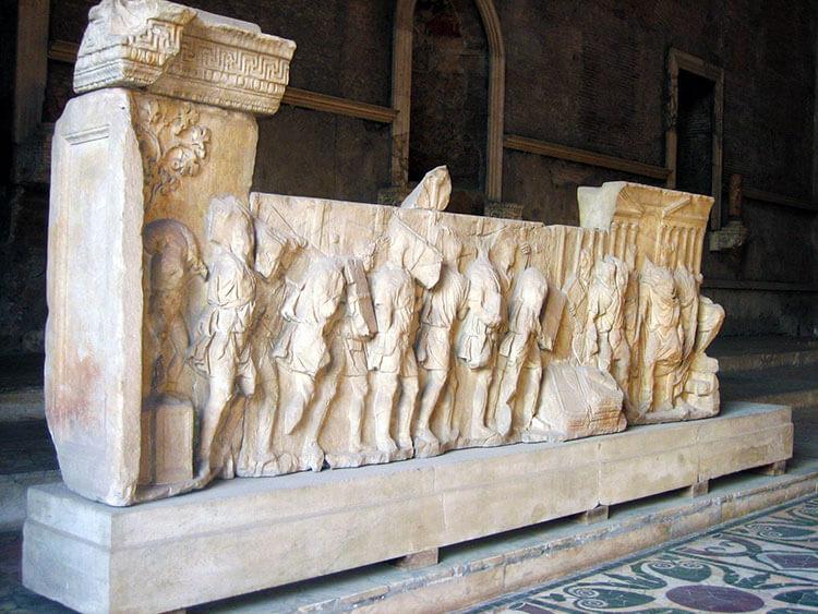 Plutei of Trajan reliefs, Roman Forum, Rome, Italy