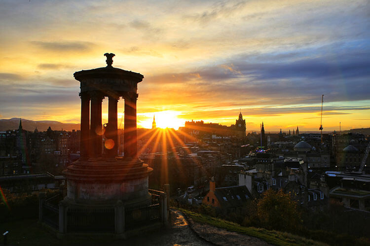 Sunset from Calton Hill